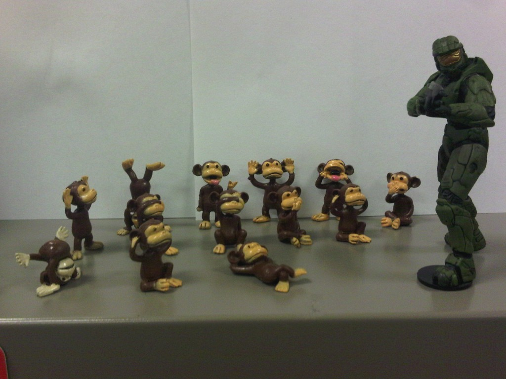 Halo Reach.. Monkeys?